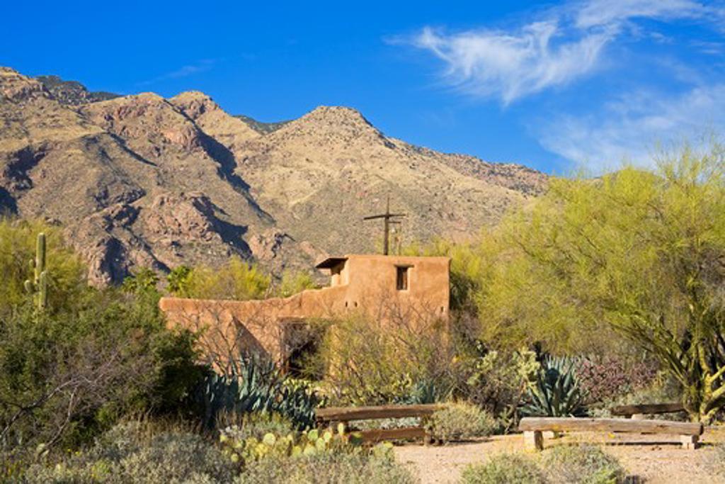 Chapel, De Grazia Gallery in the Sun, Tucson, Pima County, Arizona, USA : Stock Photo