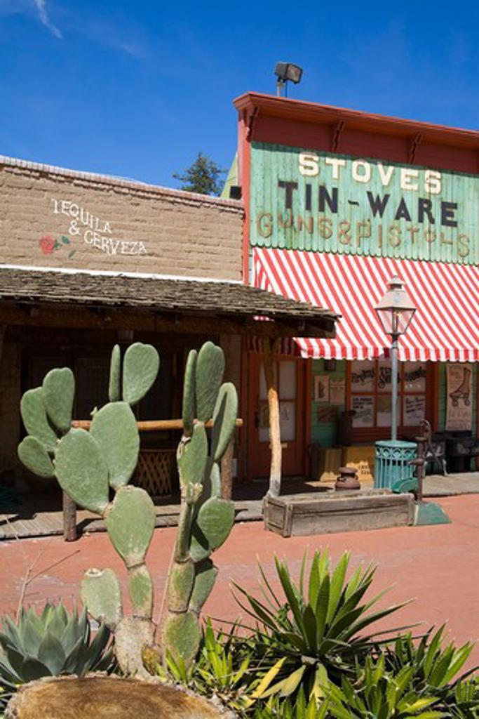 Trail Dust Frontier Town, Tucson, Pima County, Arizona, USA : Stock Photo