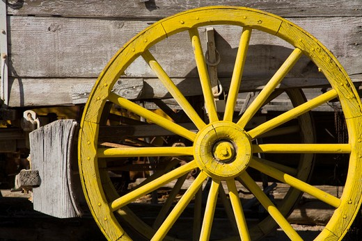 Wagon Wheel in Tombstone, Cochise County, Arizona, USA : Stock Photo
