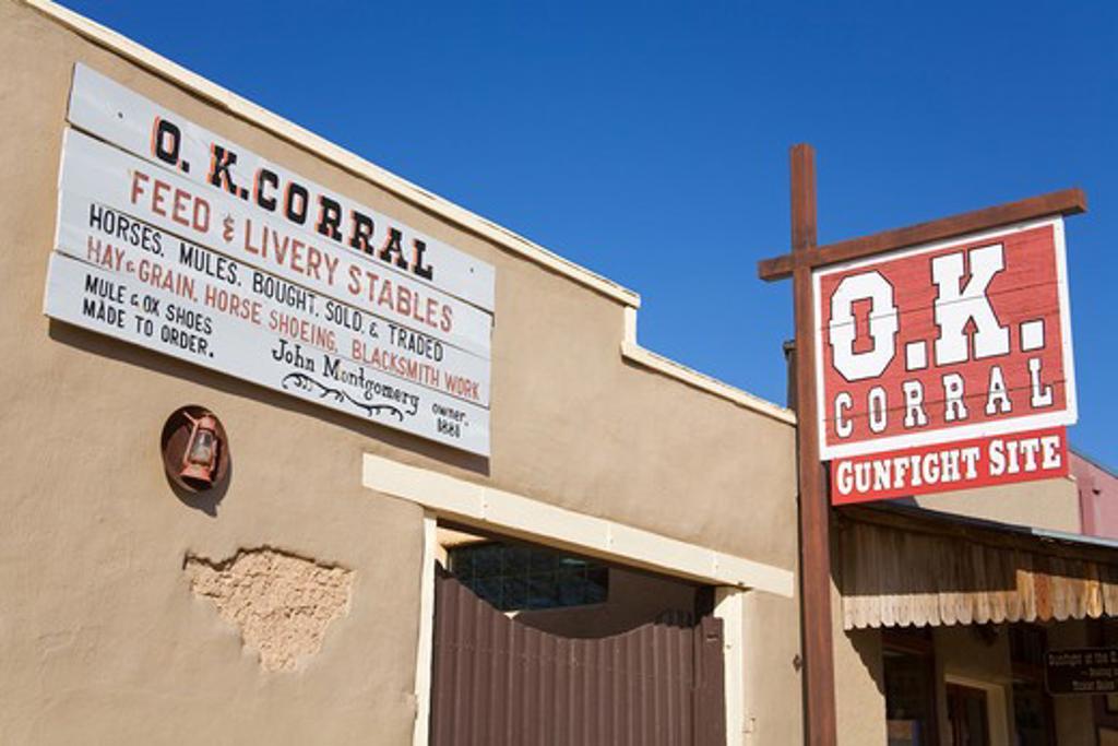 Stock Photo: 1486-12358 O.K. Corral & Historama, Tombstone, Cochise County, Arizona, USA