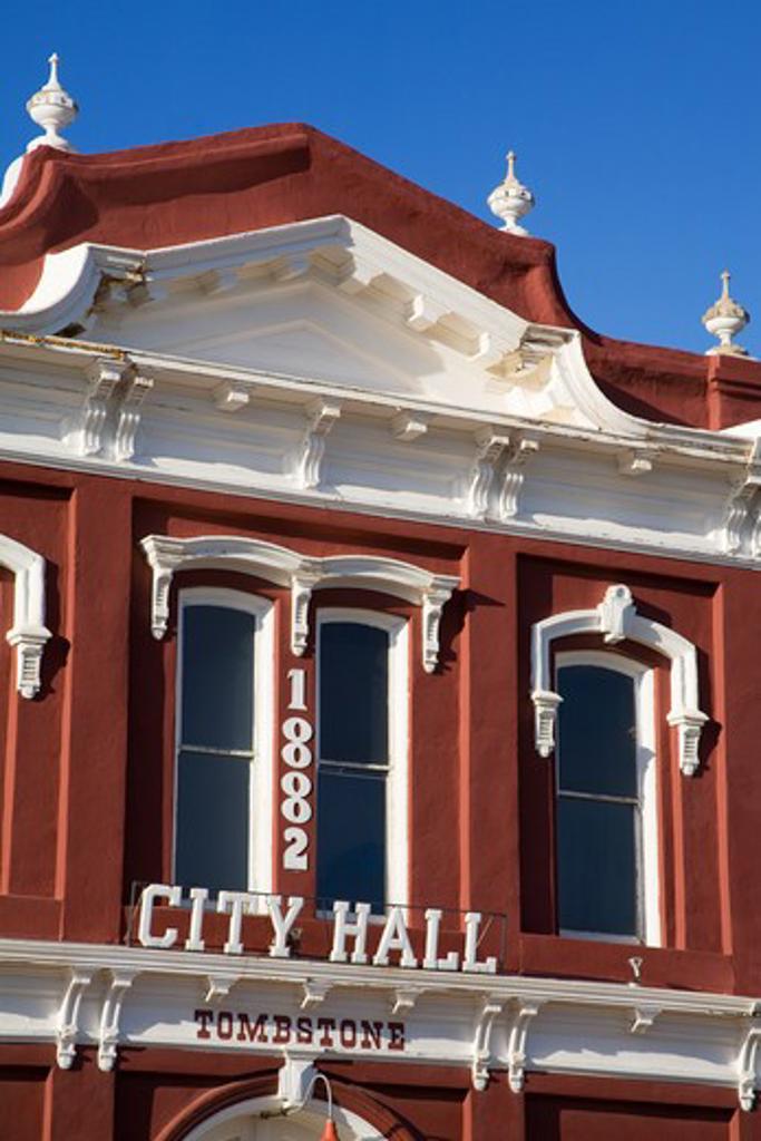 Stock Photo: 1486-12359 Tombstone City Hall, Cochise County, Arizona, USA