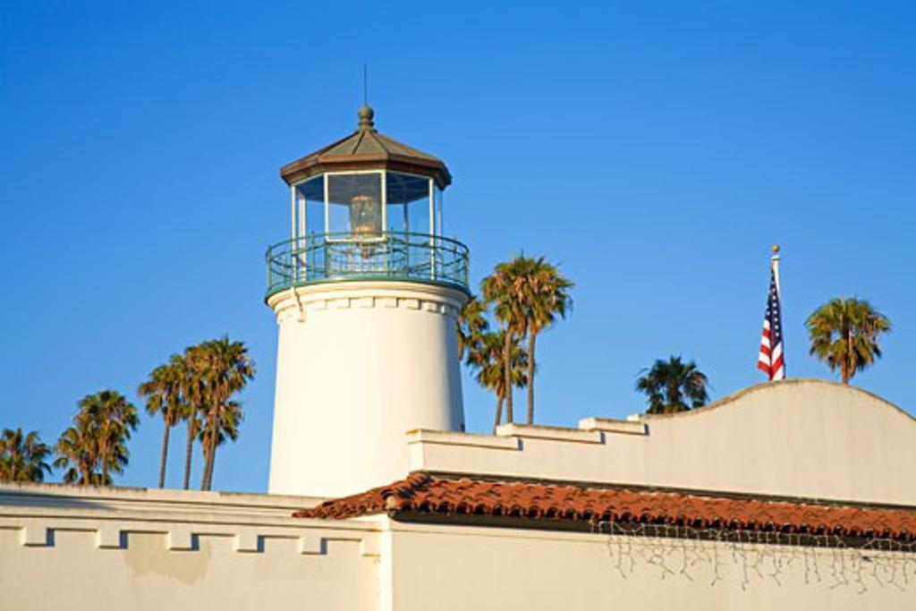 Rusty's Pizza Parlor, Cabrillo Boulevard, Santa Barbara Harbor, California, USA : Stock Photo