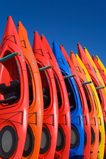 Kayak Rental,Embarcadero,City of Morro Bay,San Luis Obispo County,California,USA : Stock Photo