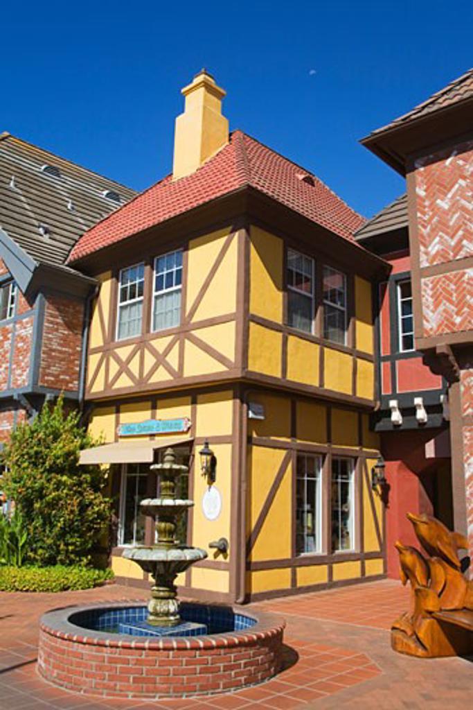 Danish Architecture on Alisal Road, Solvang, Santa Barbara County, Central California, USA : Stock Photo