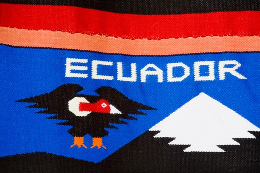 Close-up of an Ecuadorian rug, Manta, Ecuador : Stock Photo