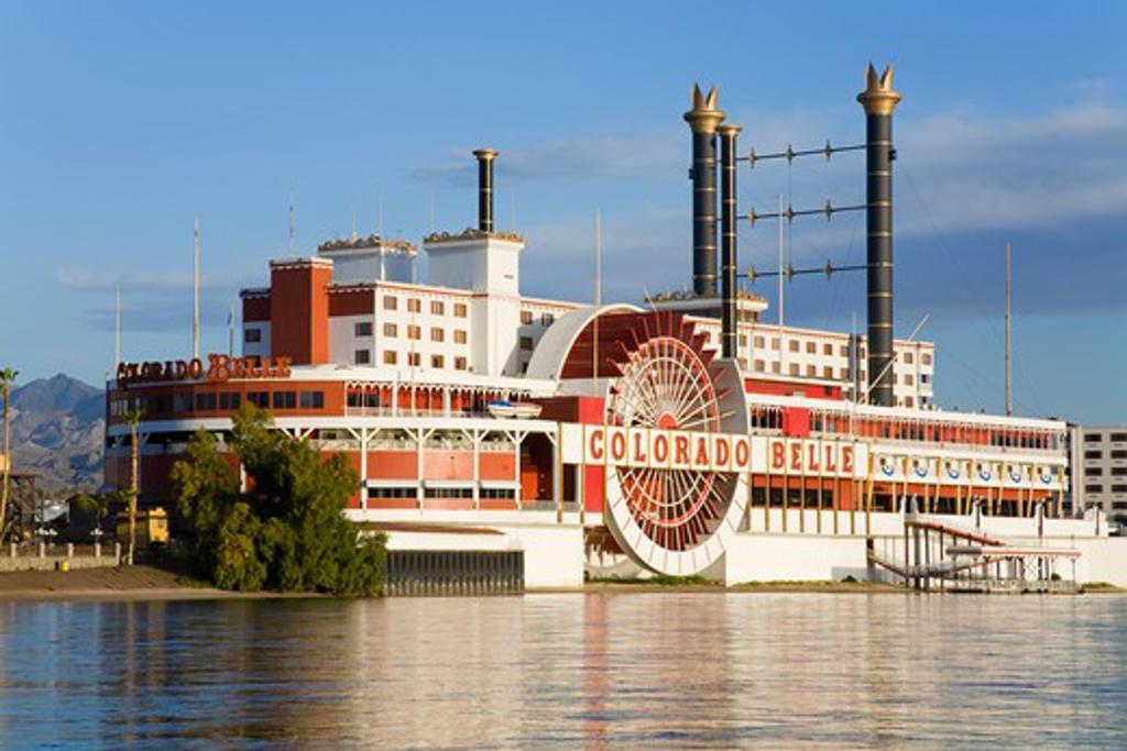 USA, Nevada, Laughlin City, Colorado Belle Casino on Colorado River : Stock Photo