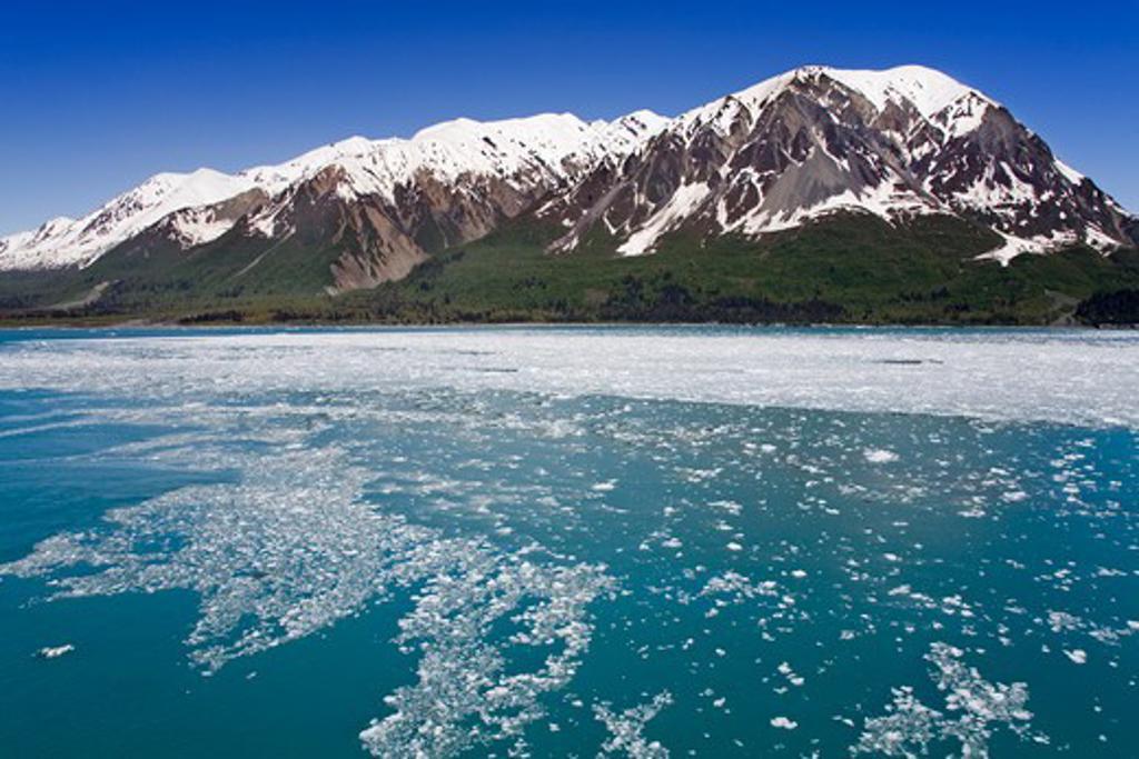 USA, Southeast Alaska, Yakutat Bay, Gulf of Alaska, Saint Alias Mountain Range : Stock Photo