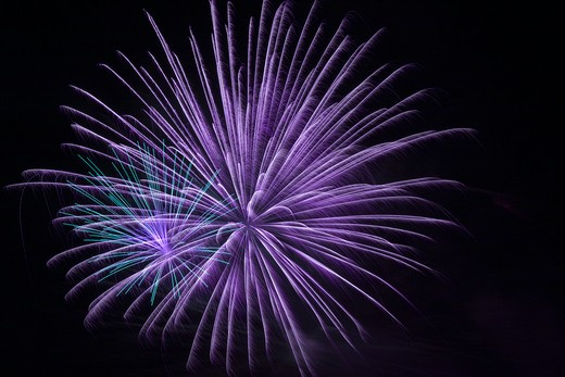 Fireworks display at night on independence day, Temecula, California, USA : Stock Photo