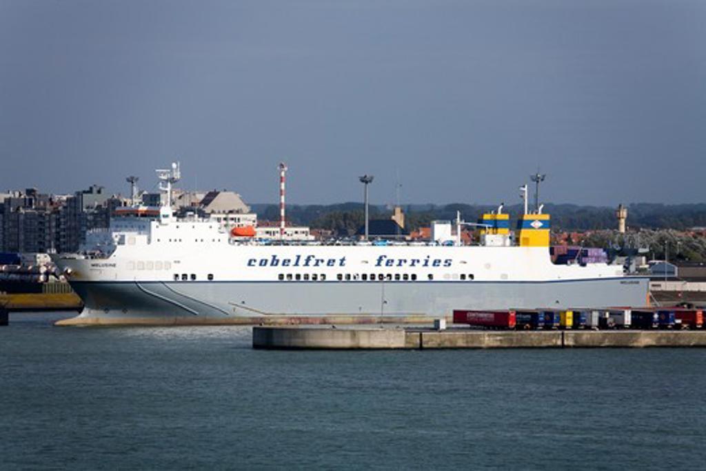 Stock Photo: 1486-13305 Ferry at a port, Port of Bruges-Zeebrugge, Bruges, Belgium