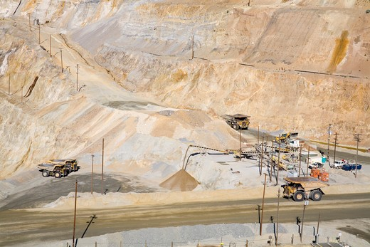 USA, Utah, Salt Lake City, Bingham Canyon Copper Mine : Stock Photo