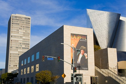 Concert hall in a city, Walt Disney Concert Hall, Los Angeles, California, USA : Stock Photo