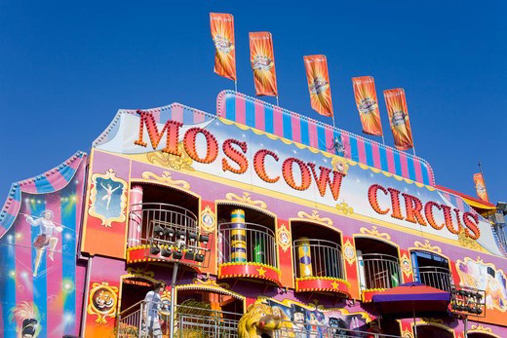 Circus at an amusement park, Orange County Fair, Costa Mesa, Orange County, California, USA : Stock Photo