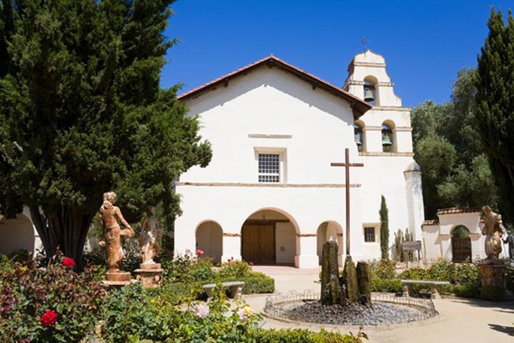 Stock Photo: 1486-14083 USA, California, Mission San Juan Bautista