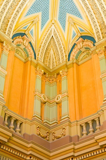 Stock Photo: 1486-14264 Australia, Sydney, Central Business District, Town Hall, Vestibule, low angle view