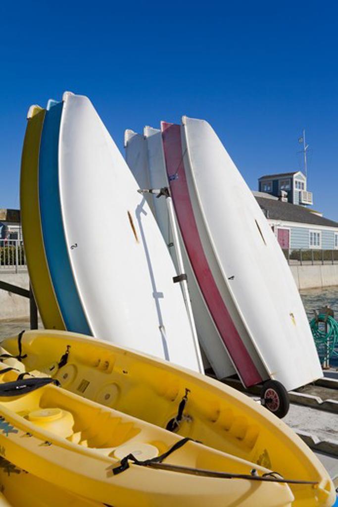 Stock Photo: 1486-14379 USA, California, Orange County, Dana Point Harbor, Boat rental