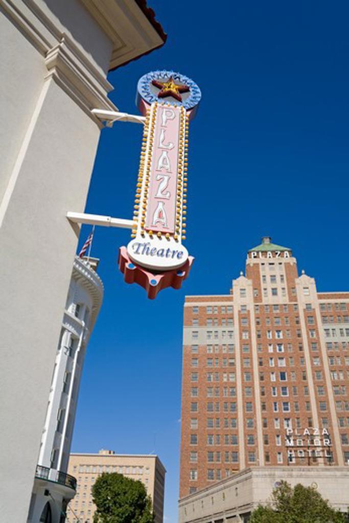 USA, Texas, El Paso, Pioneer Plaza : Stock Photo