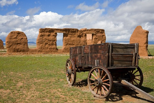 Stock Photo: 1486-14513 Ruins of a monument, Fort Union National Monument, Las Vegas, San Miguel County, New Mexico, USA