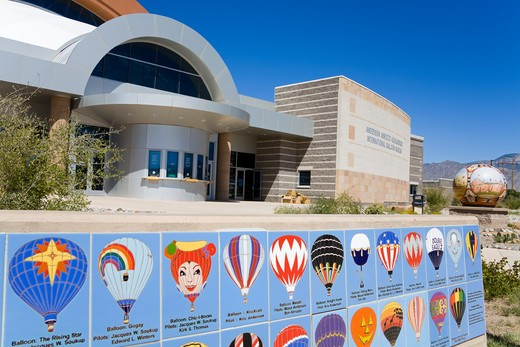 USA, New Mexico, Albuquerque, International Balloon Museum, Entrance : Stock Photo