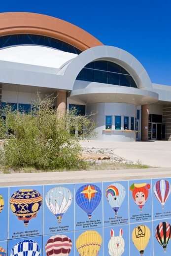 Stock Photo: 1486-14578 USA, New Mexico, Albuquerque, International Balloon Museum, Entrance