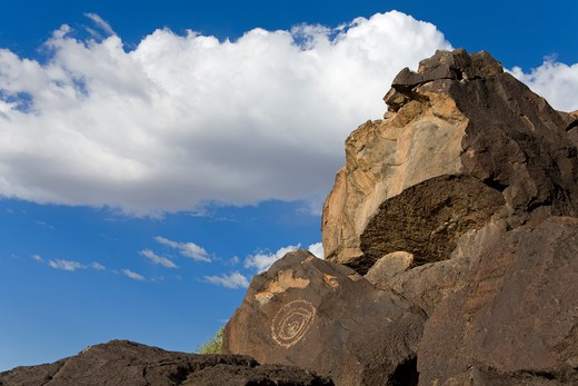 Stock Photo: 1486-14600 USA, New Mexico, Albuquerque, Boca Negra Canyon, Petroglyph National Monument