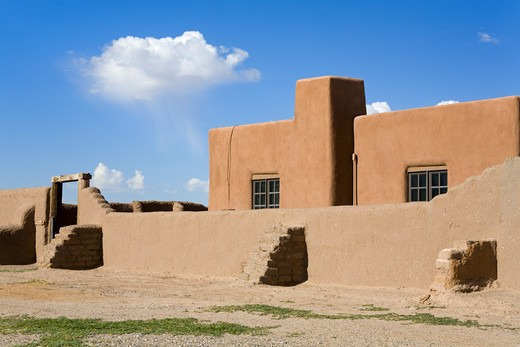 Stock Photo: 1486-14605 USA, New Mexico, Albuquerque, Coronado State Monument, Pueblo