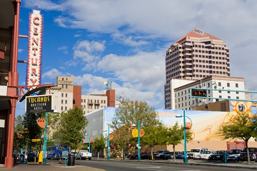 Stock Photo: 1486-14640 USA,New Mexico, Albuquerque, Central Avenue
