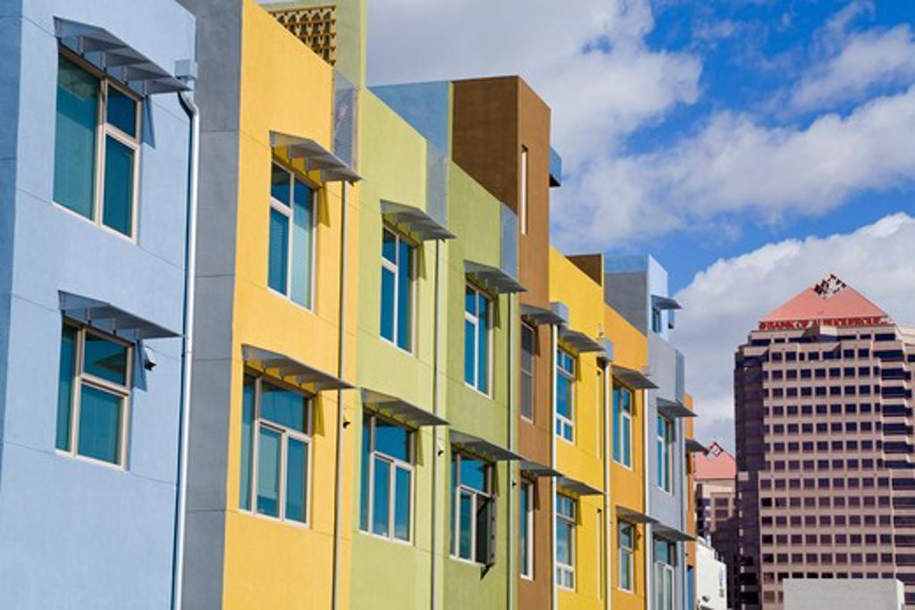 USA,New Mexico, Albuquerque, New housing in downtown : Stock Photo