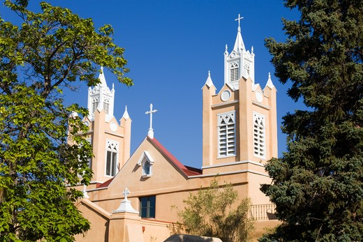 Stock Photo: 1486-14715 USA, New Mexico, Albuquerque, Old Town, San Felipe de Neri Church