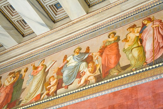 Stock Photo: 1486-14745 Interiors of a university, Athens Academy, Athens, Greece