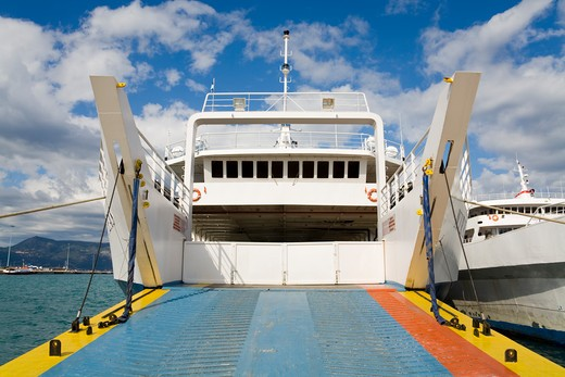 Stock Photo: 1486-14803 Ferry at a port, Corfu Town, Ionian Islands, Greece
