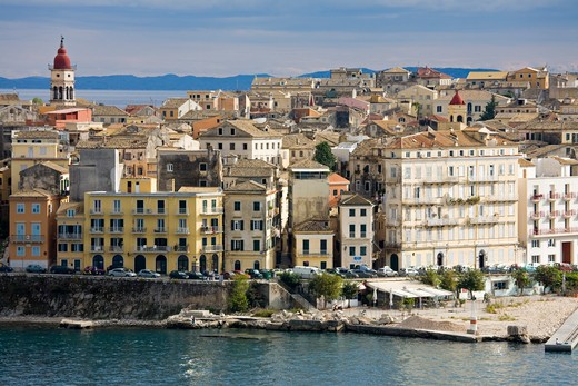 Stock Photo: 1486-14805 Buildings in an old town, Old Town, Corfu Town, Ionian Islands, Greece