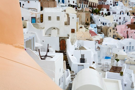 Oia village, Santorini Island, Greece, Europe : Stock Photo