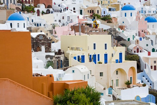 Stock Photo: 1486-14899 Oia village, Santorini Island, Greece, Europe