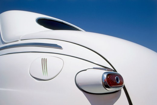 Close-up of a tail light of a vintage car : Stock Photo