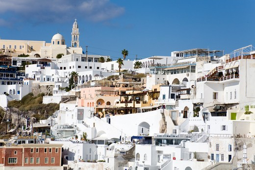 Stock Photo: 1486-14922 Town of Fira, Santorini Island, Cyclades, Greece, Europe