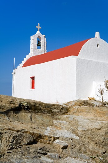 Stock Photo: 1486-14941 Church in Mykonos Town, Island of Mykonos, Cyclades, Greece, Europe