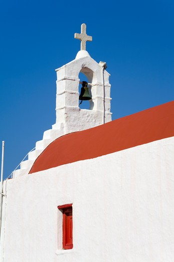 Church in Mykonos Town, Island of Mykonos, Cyclades, Greece, Europe : Stock Photo