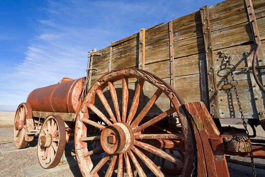 Stock Photo: 1486-15361 20 Mule Team Wagon at the Harmony Borax Works, Death Valley National Park, California, USA, North America