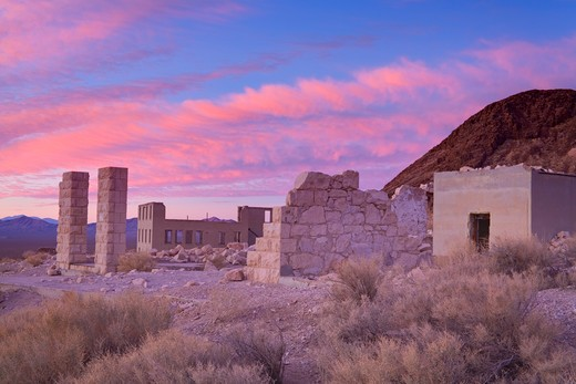 Stock Photo: 1486-15389 Rhyolite ghost town, Beatty, Nevada, USA, North America