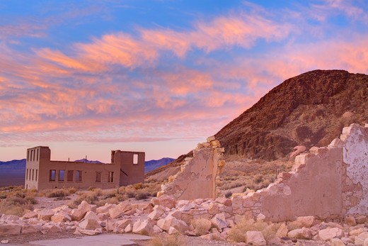 Stock Photo: 1486-15391 Rhyolite ghost town, Beatty, Nevada, USA, North America