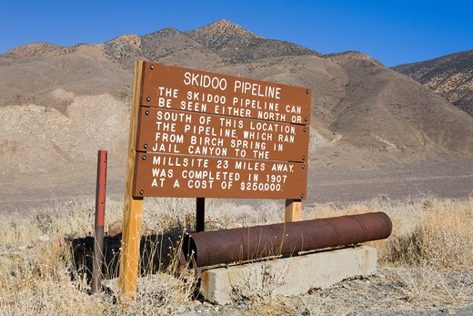 Skidoo Pipeline in Death Valley National Park, California, USA, North America : Stock Photo