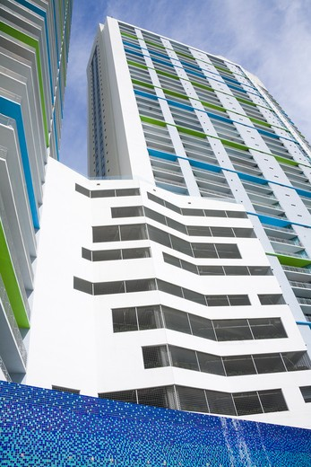 Stock Photo: 1486-15438 Apartment tower on the Miami Riverwalk, Miami, Florida, USA