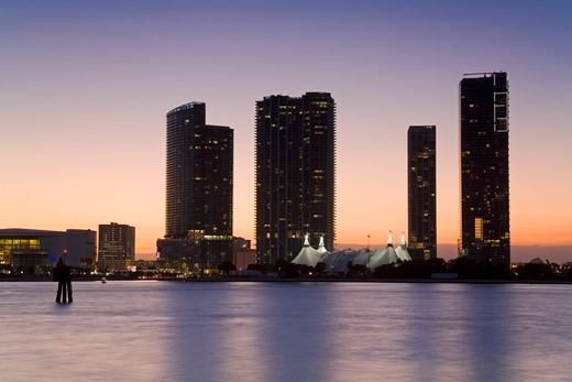 Stock Photo: 1486-15469 Miami skyline, Florida, USA