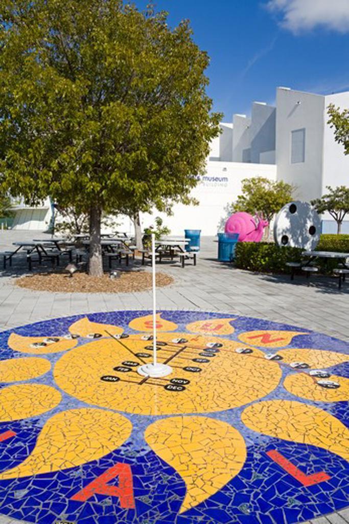 Sundial at the Miami Children's Museum, Miami, Florida, USA : Stock Photo
