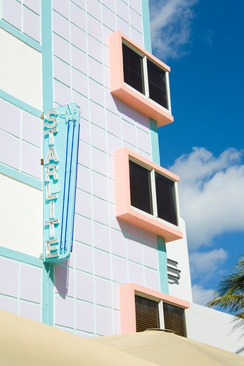 Stock Photo: 1486-15549 Starlight Hotel on Ocean Drive, South Beach, City of  Miami Beach, Florida, USA