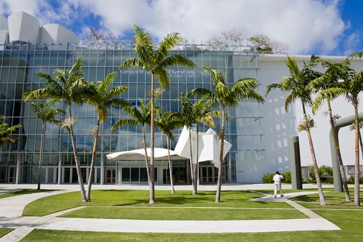 Stock Photo: 1486-15599 New World Center concert hall, Miami Beach, Florida, USA