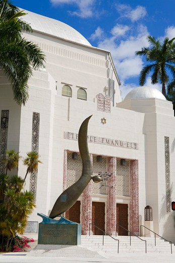 Stock Photo: 1486-15605 Temple Emanu-el, Miami Beach, Florida, USA