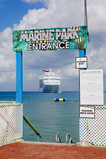 Marine Park in George Town, Grand Cayman, Cayman Islands, Greater Antilles, Caribbean : Stock Photo