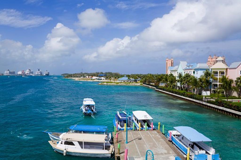 Stock Photo: 1486-15834 Paradise Island ferry terminal, Nassau, New Providence Island, Bahamas