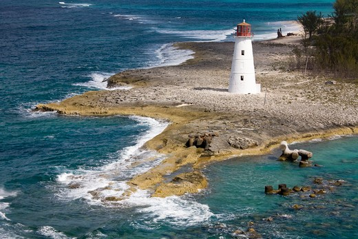 Paradise Island Lighthouse, Nassau, New Providence Island, Bahamas : Stock Photo
